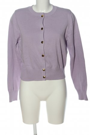 H&M Rundhalspullover lila Casual-Look