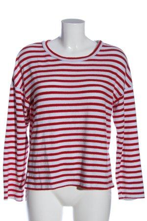 H&M Rundhalspullover rot-weiß Allover-Druck Casual-Look