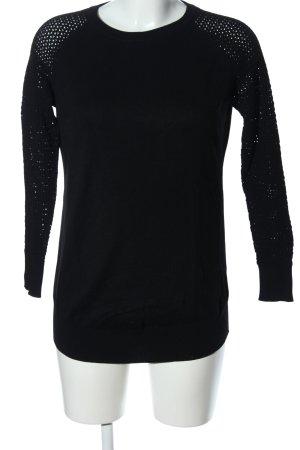 H&M Rundhalspullover schwarz Business-Look