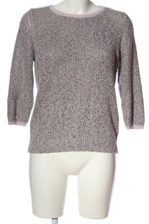 H&M Rundhalspullover pink-hellgrau meliert Casual-Look
