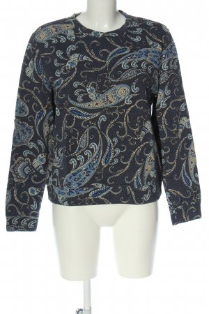 H&M Rundhalspullover blau abstraktes Muster Casual-Look