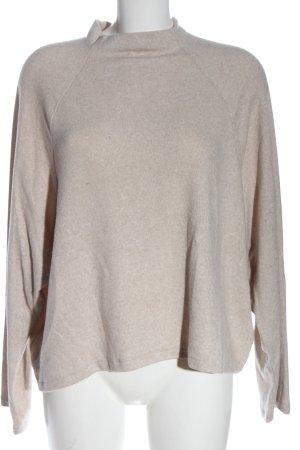 H&M Rundhalspullover nude-weiß meliert Casual-Look