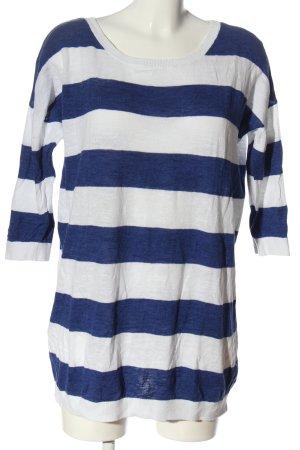H&M Rundhalspullover weiß-blau meliert Casual-Look