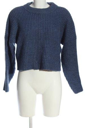 H&M Rundhalspullover blau Casual-Look
