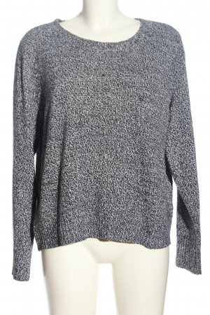 H&M Crewneck Sweater black-white allover print casual look