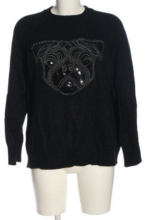 H&M Rundhalspullover schwarz Casual-Look