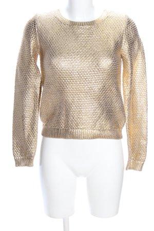 H&M Rundhalspullover goldfarben extravaganter Stil