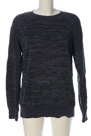 H&M Rundhalspullover hellgrau-schwarz meliert Casual-Look