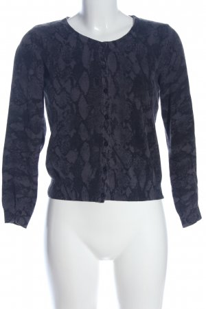 H&M Rundhalspullover blau Allover-Druck Casual-Look