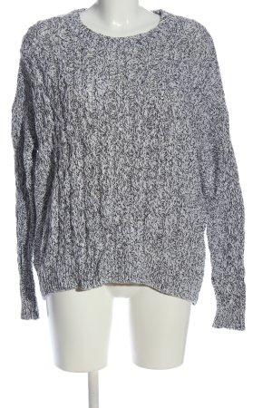 H&M Rundhalspullover schwarz-weiß meliert Casual-Look