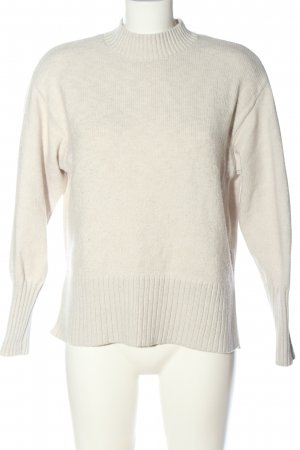 H&M Rundhalspullover wollweiß Elegant