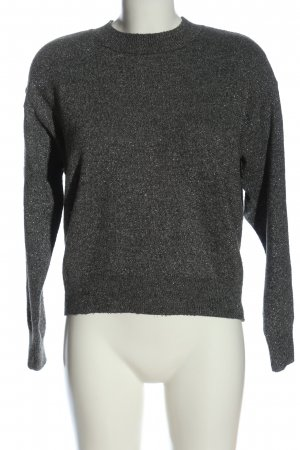 H&M Rundhalspullover hellgrau meliert Casual-Look