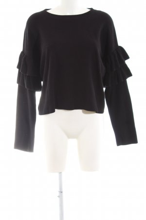 H&M Crewneck Sweater black casual look