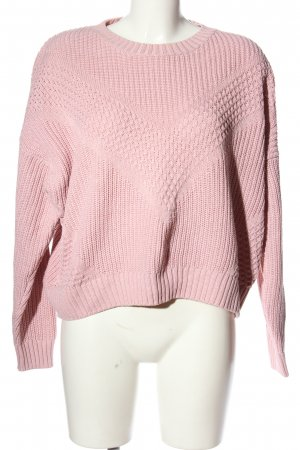 H&M Crewneck Sweater pink cable stitch casual look