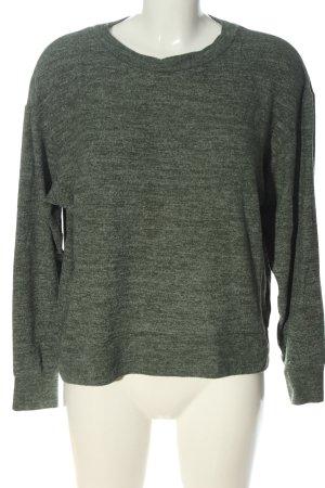 H&M Rundhalspullover khaki meliert Casual-Look