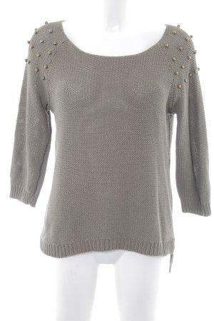 H&M Rundhalspullover khaki Street-Fashion-Look