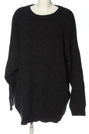 H&M Rundhalspullover schwarz meliert Casual-Look