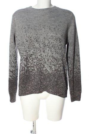 H&M Rundhalspullover hellgrau-silberfarben Farbverlauf Casual-Look