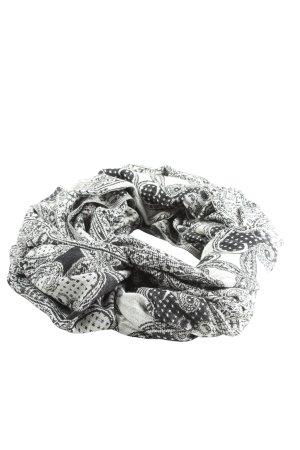 H&M Snood zwart-wit Patroon-mengeling casual uitstraling