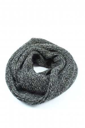 H&M Snood black-white flecked casual look