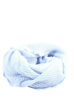 H&M Caperuza azul Patrón de tejido look casual