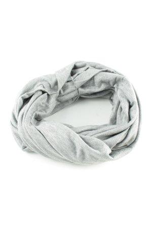H&M Écharpe ronde gris clair moucheté style décontracté