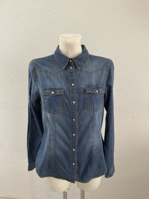 H&M S Jeans Hemd  Bluse cute Blau