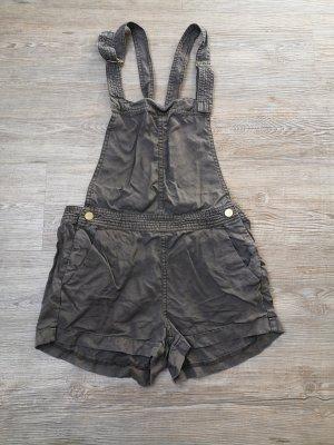 H&M S Latzhose khaki braun Hose Shorts
