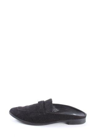 H&M Zuecos negro estilo «business»