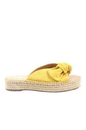 H&M Sabot crème-jaune primevère style décontracté
