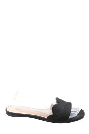 H&M Sabots schwarz Casual-Look