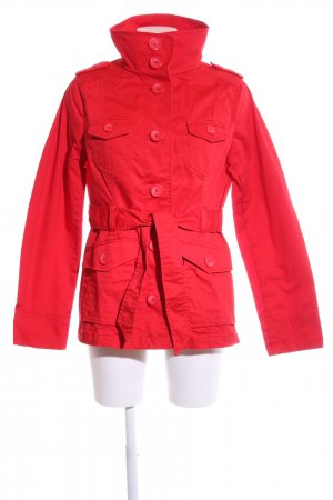 H&M Safarijacke rot Casual-Look