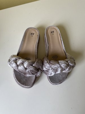 H&M Conscious Collection Clog Sandals silver-colored-light grey