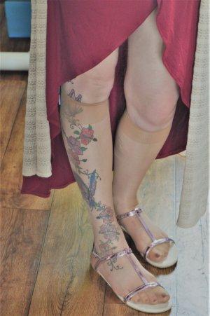 H&M Sandale Gr. 40 Lila Glanz