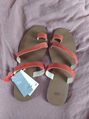 H&M Sandale Sandalen Wild Leder Suede Sandalette