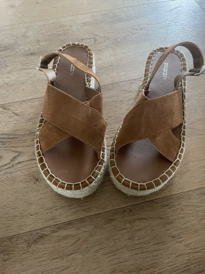 H&M DENIM Sandales à plateforme brun