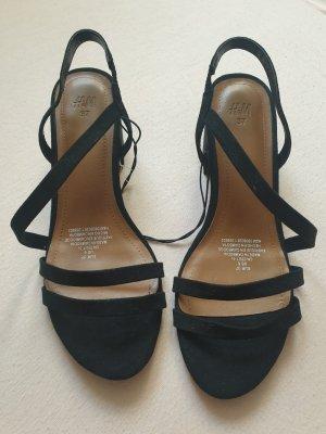 H&M Sandalias de tiras negro