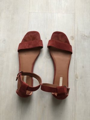 H&M Strapped Sandals russet-brown red