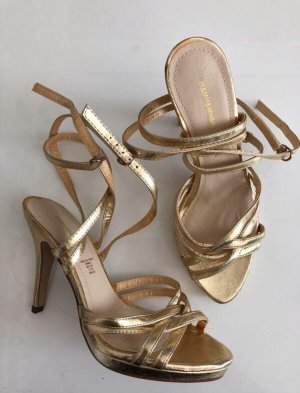 H&M Sandalen Gold