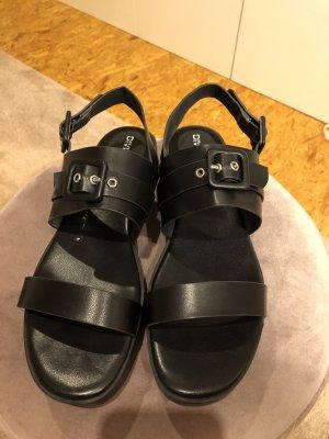 H&M Divided Platform Sandals black-silver-colored