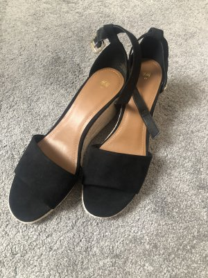 H&M Wedge Sandals black