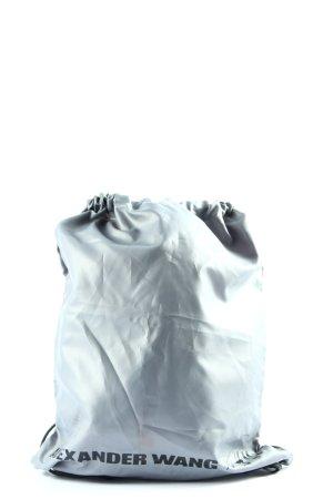 H&M Satchel light grey-black printed lettering casual look