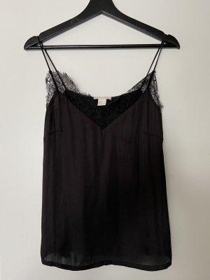 H&M Zijden top zwart