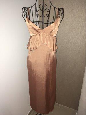 H&M Satinkleid Gr.34 nude
