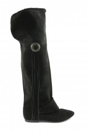 H&M Botas estilo militar negro look casual
