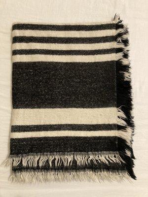 H&M Wollen sjaal zwart-wit