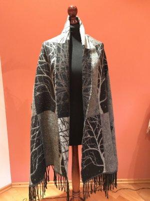 H&M Fringed Scarf light grey-dark grey