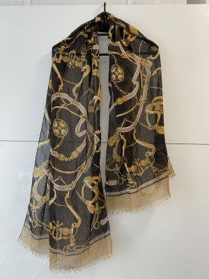 H&M Chal veraniego negro-color bronce