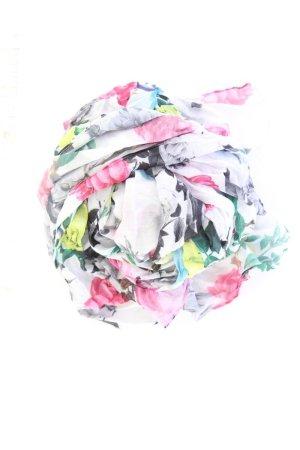 H&M Schal mit Blumenmuster mehrfarbig aus Polyester