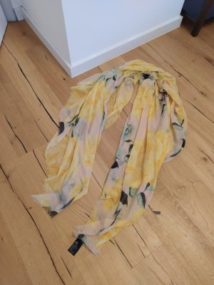 H&M Fringed Scarf nude-yellow